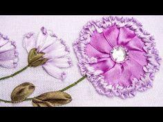Embroidery | Ribbon Flower Design | Hand Stitching Tutorials | HandiWorks #78 - YouTube