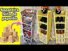 Shoe Rack, Storage, Box, How To Make, Furniture, Mascara, Home Decor, Wall Decor Crafts, Simple Paper Crafts