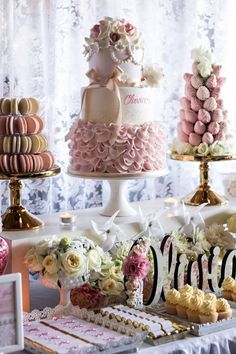 Pink + Ivory Vintage Christening Party via Kara's Party Ideas | KarasPartyIdeas.com (13)
