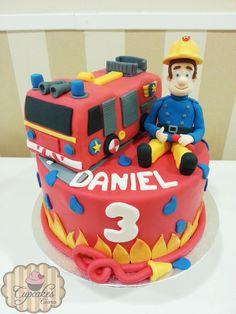 Sam the fireman cake Tarta de Sam el bombero