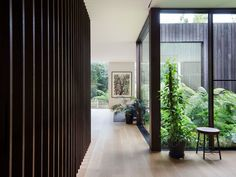 Immersed in Nature – House A by Walter & Walter – Project Feature – The Local Project Gaudi, Modern Architecture House, Interior Architecture, Internal Courtyard, Indoor Courtyard, Courtyard House, House In Nature, Modern Hallway, Small Courtyards