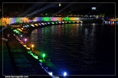 Kankaria Lake is the biggest lake in Ahmedabad in the state of Gujarat, India. It is located in the southern part of the city, in the Maninagar area. A lakefront has been developed around it, which has many public attractions such as a zoo, toy train, kids city, tethered balloon ride, water rides, water park, food stalls, and entertainment facilities. Many cultural, art, and social activities are organised during the carnival.