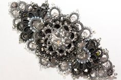 Tatted Hair Accessories Mysterious comet grey hair by LacyJewelry