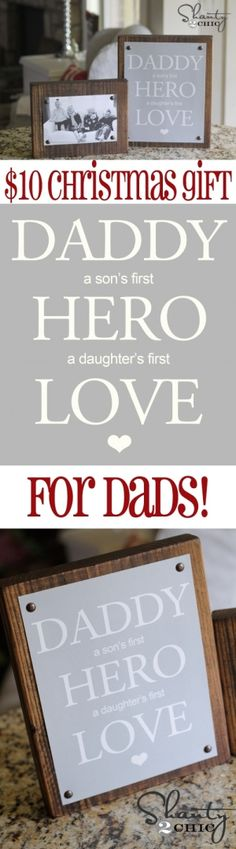 Easy DIY #Christmas Gift for Dad from Shanty-2-Chic.com // Great Photo gift for Dads!! #12daysofchristmas by whitneydawn