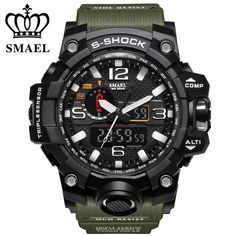 Good price SMAEL Brand Dual Display Wristwatches Military Alarm Quartz Clock Male Gift LED Digital Men's Sports Watch for Men Hours relogio just only $11.10 with free shipping worldwide  #menwatches Plese click on picture to see our special price for you