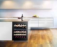 A Liebherr under counter wine cabinet offers the perfect conditions to keep wine at optimal temperatures for storage and serving.