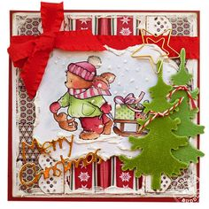 Pachela Studios Digi Stamp - Toby Tumble Pulling The Sledge < Craft Shop Christmas Cards To Make, Christmas Greeting Cards, Christmas Greetings, Christmas Time, Marianne Design, Craft Shop, Digital Stamps, Bowser, Decoupage