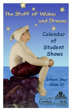 "Student Show Series Brochure Cover 2006-07 Season 8 faces folded and stapled 5.5"" x 8.5"" gloss stock"