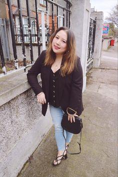 Primark jeans, Topshop Blazer, New Look button detail cami, H&M strappy sandals, Black Chloe Nile Handbag High Street Shops, Show Photos, Blazer Buttons, Head To Toe, Strappy Sandals, Denim Skirt, New Look, Cami