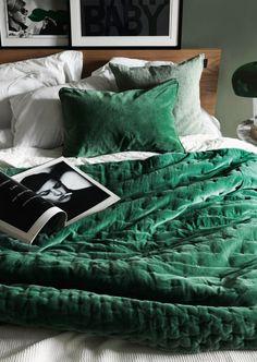 Bildresultat för grönt sängöverkast