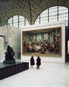 Musée d'Orsay, Paris, 1989. Photo by Thomas Struth