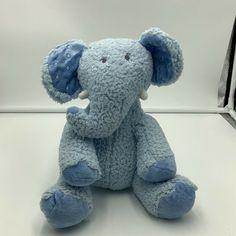 Hallmark Lil Dewberry Elephant Plush Blue Sherpa Baby Stuffed Animal Sewn Eyes #Hallmark