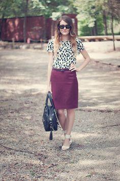 New outfit post! H dress & skirt. THEIT bag. Michael Kors pumps. www.kenziefaith.blogspot.com