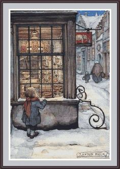 Window Shopping  contato cross stitch pattern in formato PDF