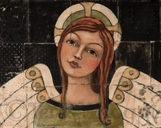 Home Decor Print | Angel | Content | 8x10 print | Teresa Kogut Art | Inspirational