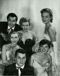 Tony Curtis, Marilyn Monroe and others as the best new up-coming actors in the early 50s