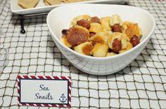 "Nautical Baby Shower | CatchMyParty.com ""Sea Snails"" Food Idea"