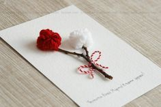 Mother's Day Activities, Craft Activities For Kids, Crafts For Kids, Baba Marta, Elegant Nail Art, Crafts Beautiful, Cute Little Things, Jewelry Making Tutorials, Card Making Inspiration