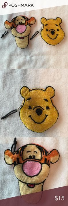 Disney Coin Purses Tigger & Winnie the Pooh beaded coin purses, NWOT $12 each or 2 for $20. Disney Bags Wallets