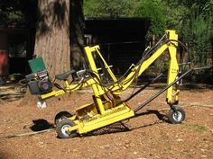 Cad Plans for the powerful hybrid backhoe. — The Greens Machines and Cycles Excavator For Sale, Mini Excavator, Walk Behind Tractor, Metal Fabrication, Welding Projects, Go Kart, Outdoor Power Equipment, Baby Strollers, Cycling