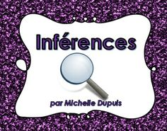 Parfait pour travailler les inférences avec vos élèves. French Teacher, Teaching French, Reading Activities, Teaching Reading, Education And Literacy, Classroom Procedures, French Immersion, French Language, School Projects