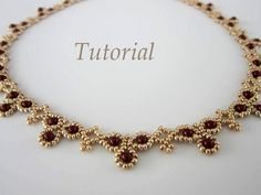 PDF tutorial Necklace Leuviah seed beads SWAROVSKY by BeadsMadness