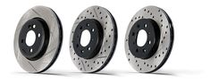 StopTech Power Slot and SportStop 1 piece rotors are designed to work with stock calipers to provide improved airflow and better performance.
