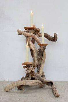 Large Driftwood Candle holder,Driftwood Candelabra,Large Driftwood candle stand