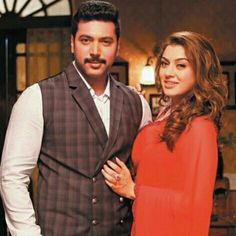 Hansika and jayam ravi in bogan film shoot