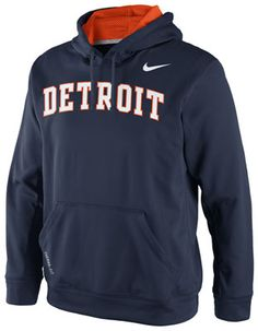 Detroit Tigers Navy Nike Fleece KO Hooded Sweatshirt #tigers #detroit #mlb