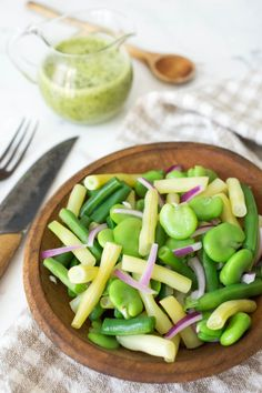Fava Bean Salad with Lemon-Cilantro Dressing by Parsley In My Teeth