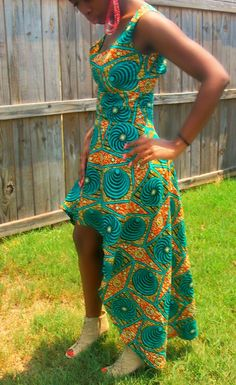 African print backless dress by ngozi on Etsy, $80.00