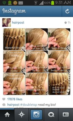 a different hair style step by step