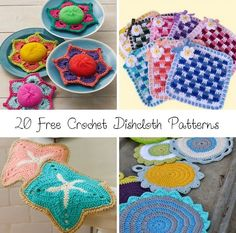 Free Patterns: Crochet dishcloths.