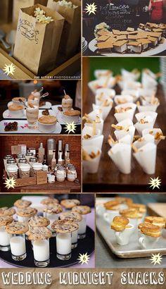 Midnight snack foods for weddings #midnightsnacks #foodstations