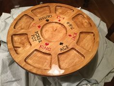 Homemade Michigan Rummy board.. First Dremmel project and router..