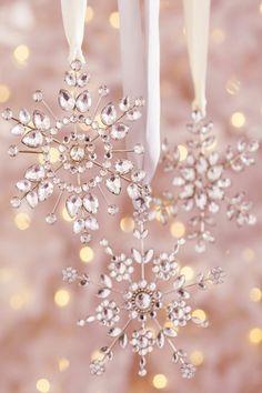 ✵crystal snowflake ornaments