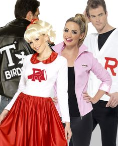 Here's a fun group costume idea - Grease! Dress up as jocks, T Birds and Pink Ladies with this fun Grease group costume. And make sure your group has a Sandy and a Danny! Browse more group costumes on our blog.