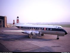 British European Airways - BEA Vickers 806 Viscount G-AOYS at Liverpool-Speke, November 1968. (Photo: Steve Williams)