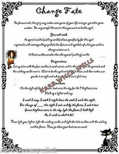 Change Fate Destiny Spell fr Wicca Book of Shadows Pagan Witchcraft Rituals Wiccan Books, Pagan Witchcraft, Magick Spells, Candle Spells, Wiccan Magic, Dream Spell, Fate Destiny, Wish Spell, Magic Spell Book