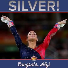 Congratulations to @alyraisman who finished the women's individual all-around finals with a #silver medal! #rio2016