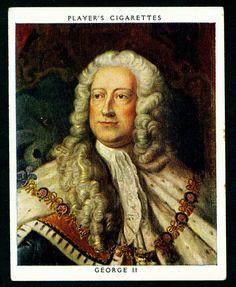 Cigarette Card - King George II   von cigcardpix