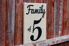Burlap Sign Family of 5 Painted Burlap Art by RamseyStreetDesigns, $30.00