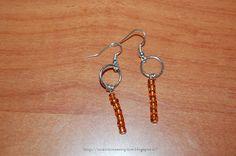 Tante piccole idee realizzate: Altri orecchini semplici con perline ambra realizzati dalle mie bimbe.