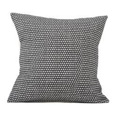 Classic Clarendon Cushion Linen on Black | Designer Cushions
