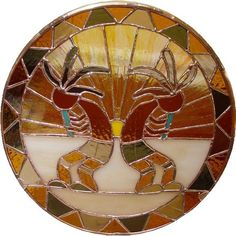 stained glass Kokopellis by Beth