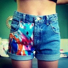 DIY high wasted shorts