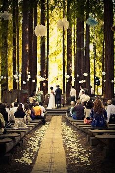 wedding in the woods - woodland wedding