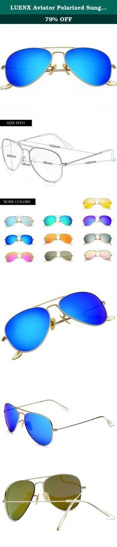 5c0a4845118 LUENX Aviator Polarized Sunglasses for Men   Women with Elegant Glasses  Case - UV 400 Protection