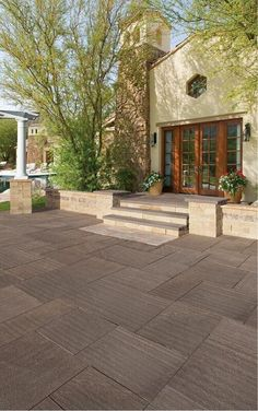 Step up your entrance with Cambridge Pavingstones with Armortec!